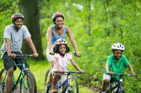 family-bike-riding
