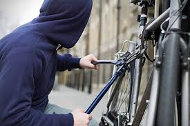 Thief Stealing A Bike
