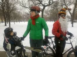 Winter Biking Family