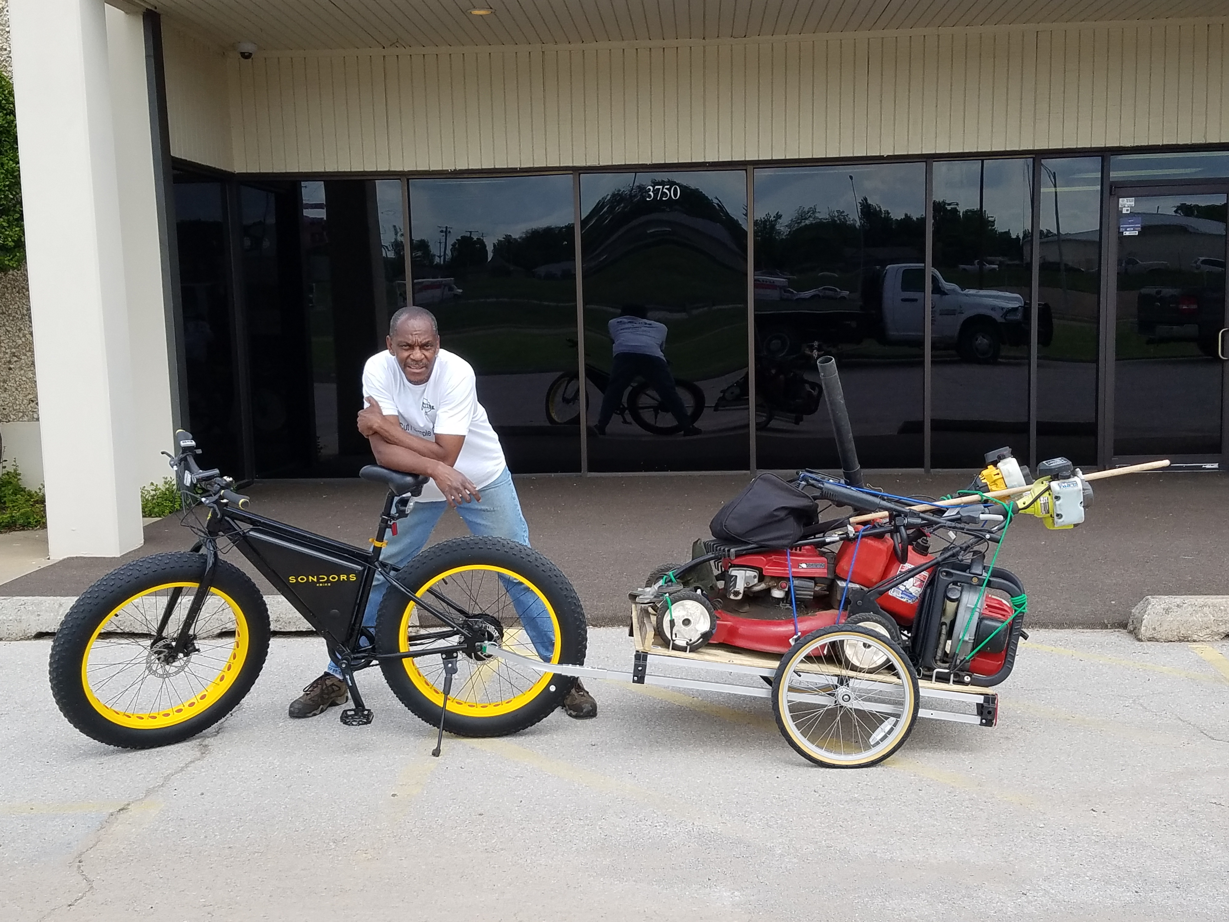 Electric Bike and Trailer
